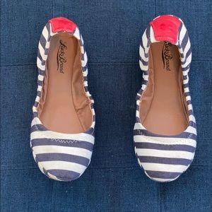 Lucky Brand Navy/White Ballet Flats